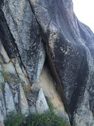 Rock Climbing Photo: A shaped roof to start