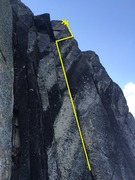 Rock Climbing Photo: The upper Portion of the Route.