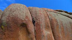 Rock Climbing Photo: Top of Jim Jam (5.9).
