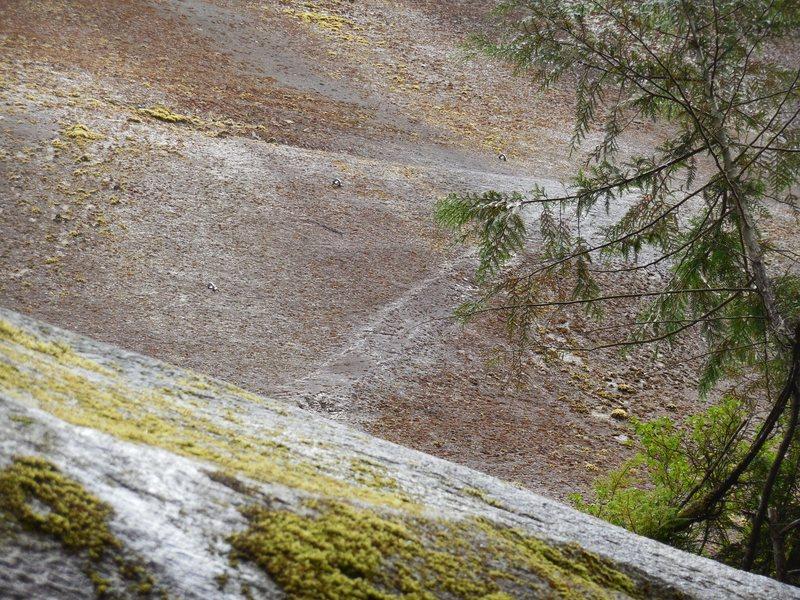 """Rock Climbing Photo: """"A Balancing Act"""" follows the right tren..."""