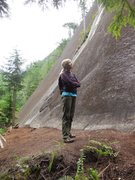 """Rock Climbing Photo: The base of """"Skywalker,"""" without the cro..."""