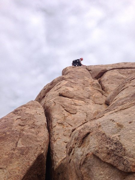 Rock Climbing Photo: View of the route from the start. Photo John Walto...