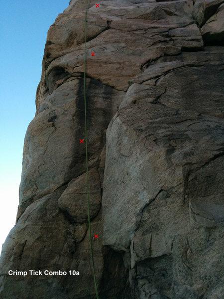 Rock Climbing Photo: Crimp Tick Topo