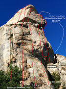 Rock Climbing Photo: Workable topo of the Sphinx- Hopefully helpful.. n...