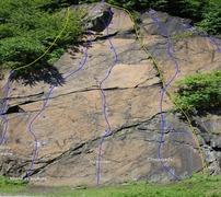 Rock Climbing Photo: Hydroman topo