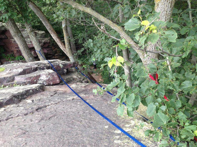 Rock Climbing Photo: anchors @ Devil's Lake