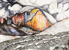 "Rock Climbing Photo: ""Diamond Dreams"" - pen/ink/watercolor - ..."