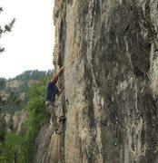Rock Climbing Photo: Larsen on Iron Horse