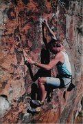 Rock Climbing Photo: 90's redpoint courtesy of Casio G-Shock.  Erik Gea...