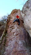 Rock Climbing Photo: Redpoint attempt