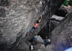 "Rock Climbing Photo: ""Hot Lava Lucy"" redpoint (used to be cal..."