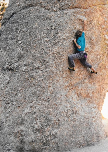 """Solo'ing """"The Thimble"""" in the Black Hills."""