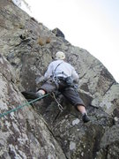 Rock Climbing Photo: Andy Ross on the Original Finish moving right from...
