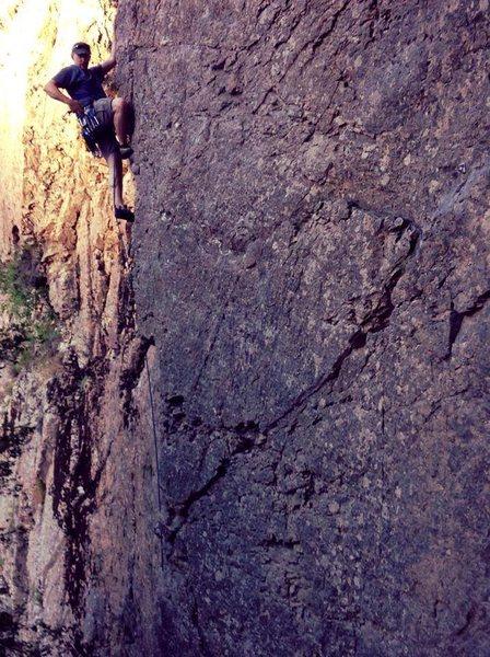 Rock Climbing Photo: James Jordan on Italian Arete.