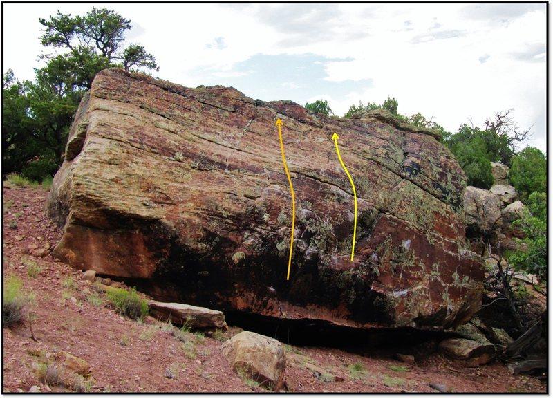 Rock Climbing Photo: Slate Lick Stunner is in orange.