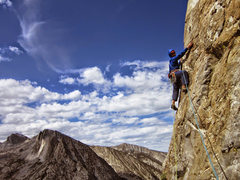 Rock Climbing Photo: Vitaliy climbing on the Arete. Pitch 2. Beautiful ...