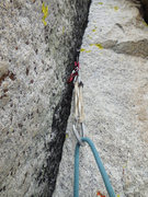 Rock Climbing Photo: Nice crack on the 5th pitch