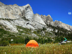 Rock Climbing Photo: Beautiful meadow for a basecamp
