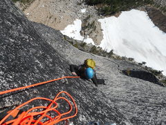 Rock Climbing Photo: Leah Pappajohn following pitch 7. This is the end ...