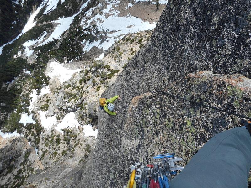 Rock Climbing Photo: Victoria Witrak on 1st bolt ladder pitch
