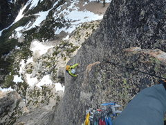 Rock Climbing Photo: Victoria Witrak on 1st bolt ladder pitch