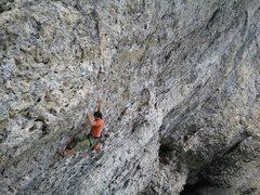 Rock Climbing Photo: Crux of Choss Toss.  Meathooks (popular) is just t...
