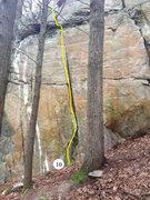 Rock Climbing Photo: Blob Rock 10: The Boulder Problem 5.10b