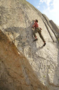 Rock Climbing Photo: Blake McCord working the heniously thin Green Toup...