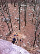 Rock Climbing Photo: it was higher than it looked from the ground.