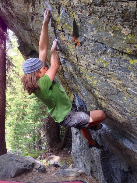 Rock Climbing Photo: Better holds at hand, just the precarious top out ...