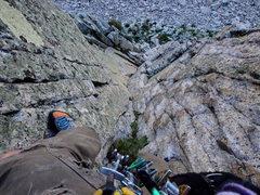 Rock Climbing Photo: Looking down the fun corner