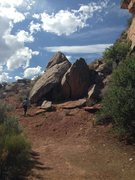 Rock Climbing Photo: Route stays on the slab from the bottom corner (on...