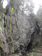 Rock Climbing Photo: Elephant Ear is the second route you will arive at...