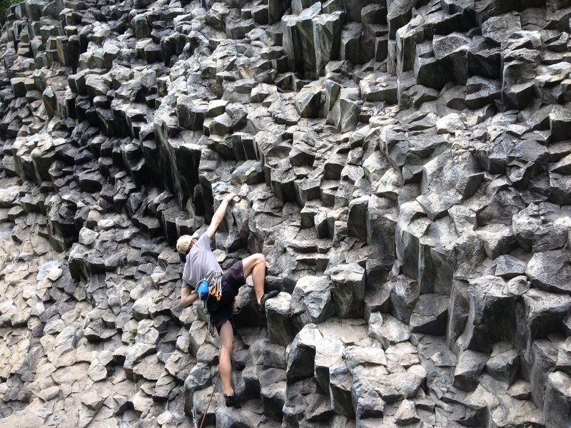 Getting RAD in Panama. Awesome columnar jointing.