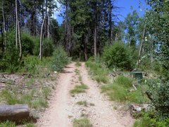 Rock Climbing Photo: Fortress Approach Photo 3: Turnoff. The turnoff is...