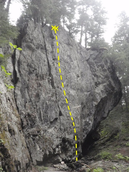 Rock Climbing Photo: Unified Field is the sport route up the center of ...