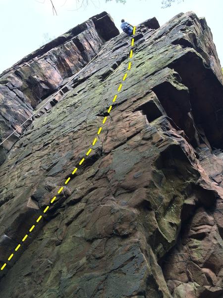 Rock Climbing Photo: Mike O. on Cat-o-Nine-Tails