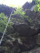 Rock Climbing Photo: Right half of the Ol' Fish House section
