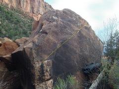 Rock Climbing Photo: Beta for Bunny Terrorist.