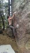Rock Climbing Photo: High right hand start.