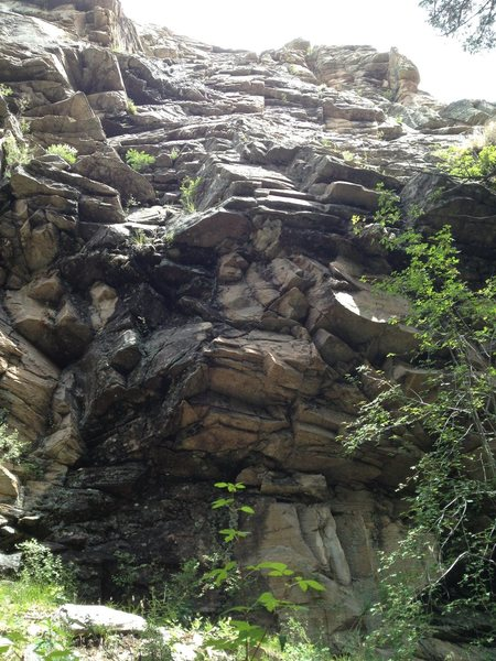 Rock Climbing Photo: Bottom section/first bolts are very visible from h...