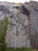 Rock Climbing Photo: Howl of the Damned starts on the slab ramp then ge...