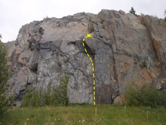 Rock Climbing Photo: Jaws of Chrud is a TR right of the two sport route...