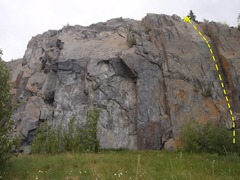 Rock Climbing Photo: This climb is located at the far right end of the ...