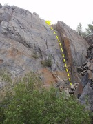 Rock Climbing Photo: Scramble up the choss pile to reach this right mos...