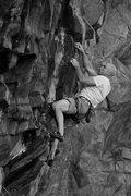 Rock Climbing Photo: Ben on the crux.