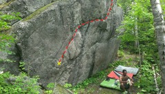 Rock Climbing Photo: The full picture of this problem.
