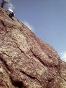 Rock Climbing Photo: Last pitch on Endeavor