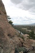 Rock Climbing Photo: This is where you belay from. This view is looking...