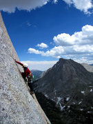 Rock Climbing Photo: Jen coming up the K Crack.